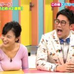【GIF】小島瑠璃子さん、エッチなお●ぱいをポロリ寸前放送事故www